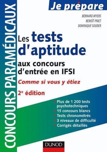 Les tests d'aptitude aux concours d'entrée en IFSI - Comme si vous y étiez