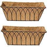 GARDEN KING 24 Inch Wall Trough Black for Indoor and Outdoor(Set of 2, Size: Length: 24 Inch or 60cm, Width-18.5cm, Height:23