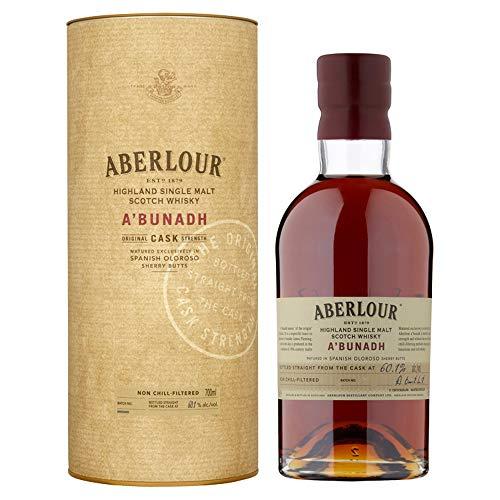Aberlour A'Bunadh Highland Single Malt Scotch Whisky, Original Cask Strength Non Chill Filtered Scotch Single Malt Whisky (1 x 0,7 L) -