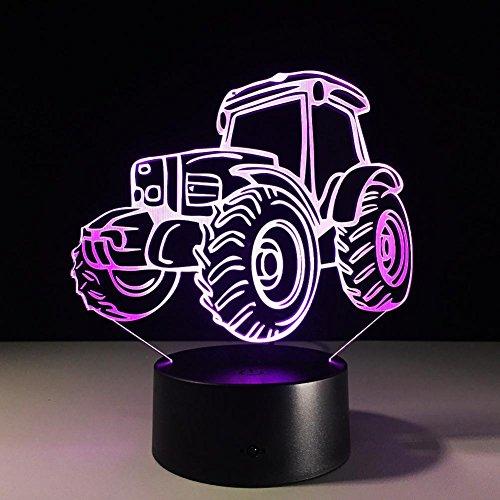 OOFAY LIGHT® 3D LED Nachtlicht Lampe Traktor 7 Farben Touch Art Skulptur Lichter mit USB Kabel Schlafzimmer Schreibtisch Tisch Dekoration Lampe für Kinder Erwachsene Geschenk