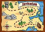 12 cartes d'invitation anniversaire enfant thème