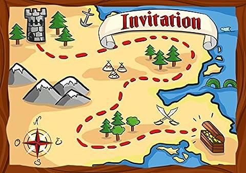 Carte D Invitation Anniversaire - 12 cartes d'invitation anniversaire enfant thème