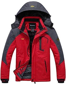 [Patrocinado]Wantdo Chaqueta de Montaña Impermeable para Hombres de Abrigo de Esquí