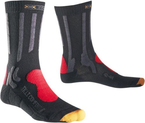 X-Socks Herren Socken TREKKING LIGHT und COMFORT, Charcoal/Red/Grey, 35/38, X020278 - Bulk-sport-band