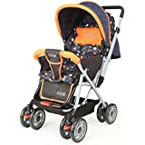 Luvlap Sunshine Baby Stroller Pram (Orange and Black)