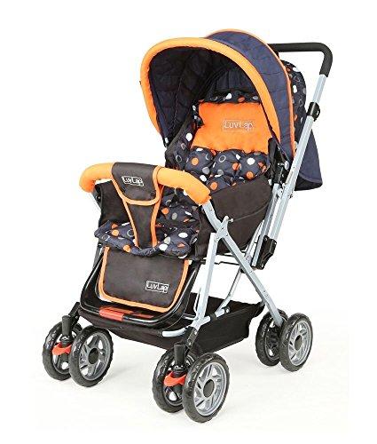LuvLap Baby Stroller Pram Sunshine Orange/Black