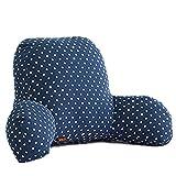 JYSPORT lombare cuscino divano letto sedia da ufficio resto cuscini cotone supporto posteriore lettura cuscino sfoderabile, 55 x 45 x 25 cm, 06, L