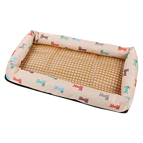 Cupcinu Hundebett Cushion Pet Pads Katzenzwinger Haus Pet Nesthaus Zwinger Tiernest Nest Bed Blankets Gedruckt mit Einem Cartoon-Welpen-Muster Size 37 * 28cm