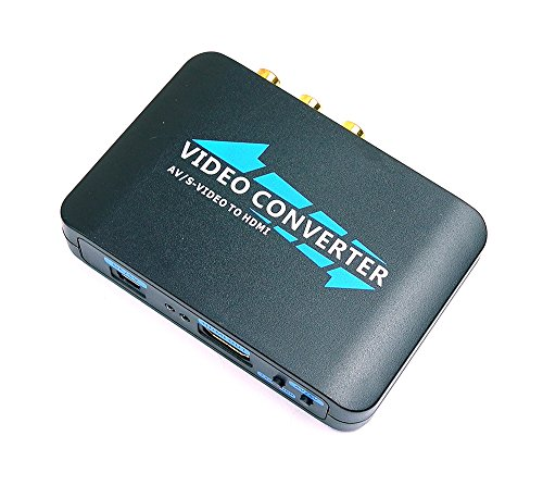 Mondpalast @ Adattatore convertitore da RCA CVBS , S-Video a HDMI Audio video PAL+NTSC