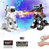 Ouneed- 2PC RC Battle Boxing Robot / Juguetes, Control Remoto 2.4G Humanoid Fighting Robot, Dos Joysticks de Control Boxeo Real Experiencia de Lucha (Blanco y Negro)