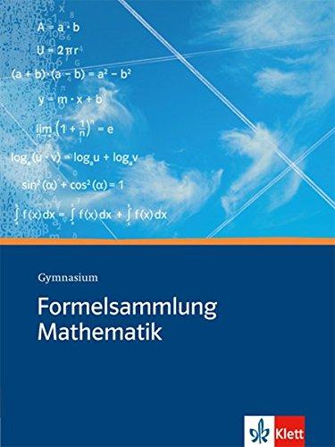 formelsammlung bis zum abitur Formelsammlung Mathematik: Gymnasium