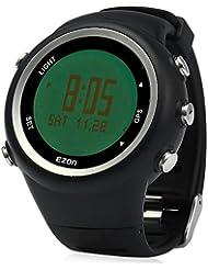 Leopard Shop ezon Hombres Reloj Deportivo Running GPS Series resistente al agua exterior), color negro