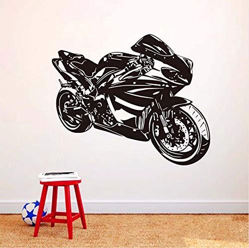 Klasse Motorrad Wandaufkleber Ausgangsdekor Wandtattoo Für Jungen Zubehör Vinyl Wandbild Selbstklebende Dekorative Motorrad Modell 70x58 cm