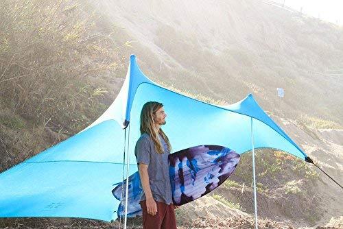 Neso Zelte Grande Beach Zelt, 2,1 m hoch, 2,8 m (9 ft) x 2,8 m (9 ft), Verstärkte Ecken und Kühlfach(Teal)