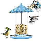PJDDP Uccelli, Mangiatoia per Uccelli per Appendere Fuori, Albero Hanging Mangime per Uccelli Alimentatore con Gancio Forte E Ciclistica Stabile per Balcone Esterno Giardino Etc,A
