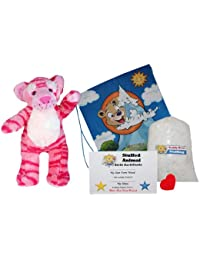 "Make Your Own Stuffed Animal ""Dreams The Pink Tiger"" - No Sew - Kit With Cute Backpack!"