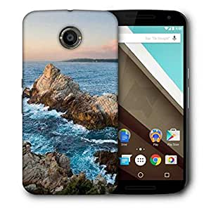 Snoogg Waves Hitting The Mountain Printed Protective Phone Back Case Cover For LG Google Nexus 6