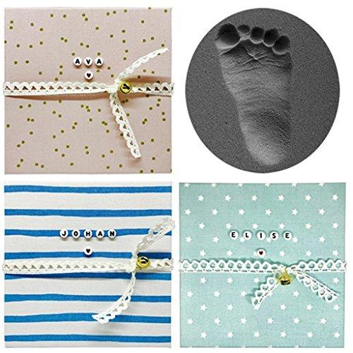 BEZAUBERNDE BABY FUßABDRUCK UND HANDABDRUCK SET ERINNERUNGSBOX Personalisiertes Babygeschenk zur Geburt & Taufe Liebevolles Andenken zur...