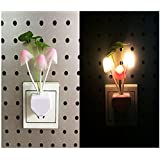 Mushroom Night Light,Lighting Sensor Led Bedroom Nightlight For Kids,Soft Color Changing Romantic Plug In Wall Lamp(Assorted Colors And Designs )