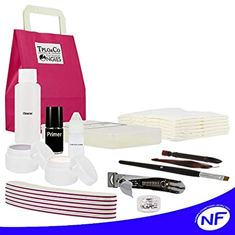 Kit gel uv discount kit démarrage faux ongles french