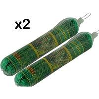 2 x Filets Jardin - Chaque 2m x 10m - Maille Forte Fine - Peut Etre Coupé à Taille Requise - Protéger les Semis / Légumes / Fruits SOFT / Plantes / Etangs