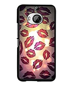 Fuson 2D Printed Kiss Designer back case cover for HTC One M9 Plus - D4455
