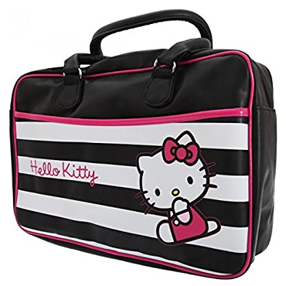 Hello Kitty – Bolsa de deporte / viaje oficial de Hello Kitty con estampado de rayas