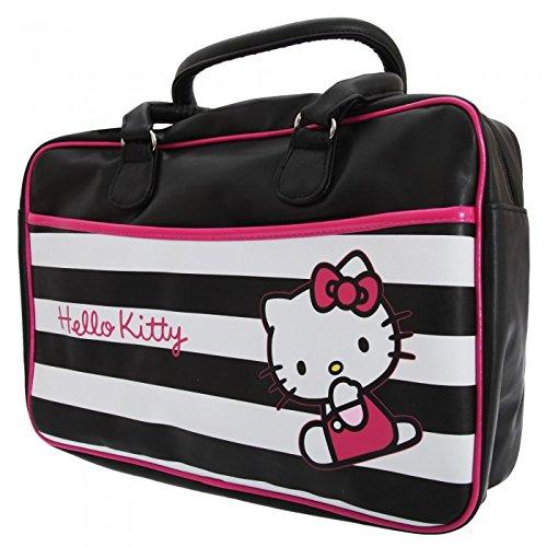Hello Kitty – Bolsa de deporte   viaje oficial de Hello Kitty con estampado  de rayas 3c1dd48380a55