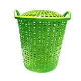 #5: Cruzun Laundry Baskets - Plastic Laundry Basket Organiser - Washing Cloth Baskets - Dirty Clothes Storage Basket for Bedroom, Bathroom Color May Vary