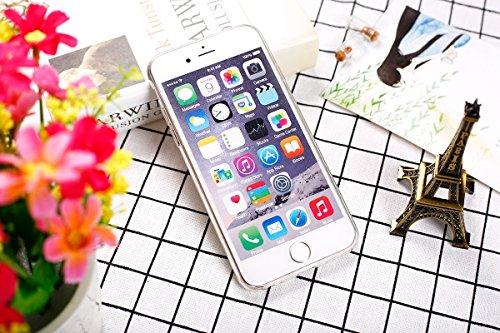Custodia iPhone 6S 4.7 Cover iPhone 6,Ukayfe Moda UltraSlim Gel TPU Silicone Custodia per iPhone 6/6S 4.7 di placcatura, Case Morbida Soft Bling Cristallo Protettiva Custodia Brillantini Resistente ai Foglio verde rosso peonia