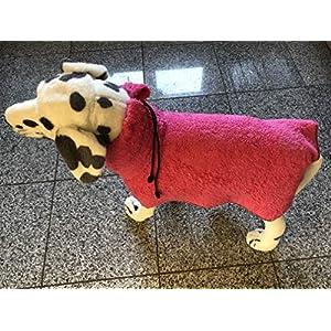 Bademantel für Hunde pink Gr. S