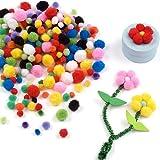 Mini pompon colorati per bambini (confezione da 500)