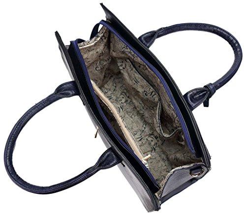 Kukubird Ladies In Pelle Di Design Stile Coccodrillo Texture Dettagliare Con Ciondolo Grande Tote Bag Shoulder Satchel Handbag Nero Tienda De Venta Tienda De Venta Barata Salida De Llegar A Comprar Sitio Oficial N4qbJU