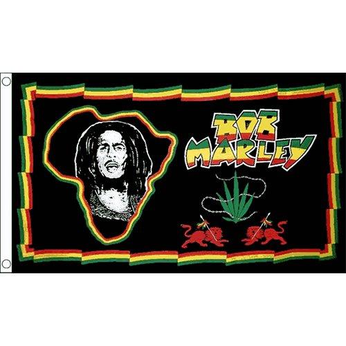 Bob Marley, motivo bandiera 0,91 Meters X 0,61 Meters Rastafarian Rasta Jamaica Festival Exodus