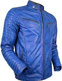 Los Angeles 645aa af2b4 Suchergebnis auf Amazon.de für: Blaue Lederjacke Herren ...