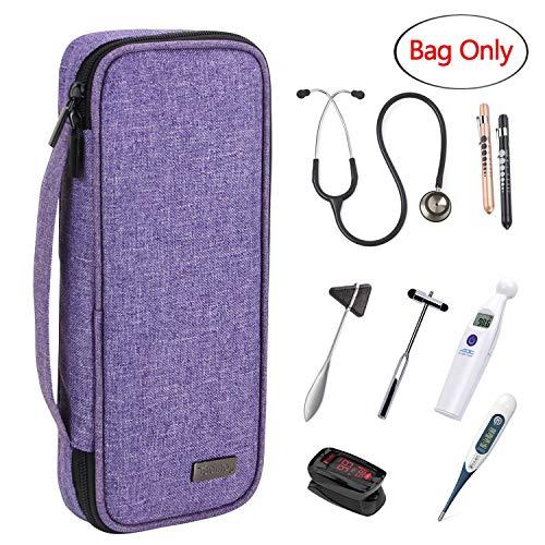 Adc-tasche (Teamoy Stethoskop Tasche, Stethoskop-Tragetasche kompatibel mit 3M Littmann, MDF, ADC, Omron Stethoskop und anderem Zubehör, Lila)