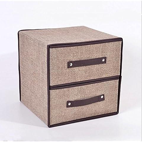 GYMNLJY Doppio cassetto multifunzione Storage Box pieghevole borsa accomodante detriti stoccaggio borsa , a , 30*30*30