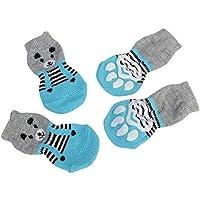 Patrón Lindo Calcetines para Mascotas Suaves Perros de algodón Puro Gatos Calcetines Dulces Calcetines de Piso para Mascotas Suministros de Mascotas para la Primavera otoño Invierno