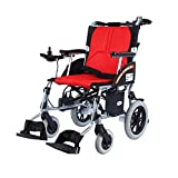 JU FU Elektrischer Rollstuhl, älterer behinderter Aluminiumlegierungs-Rollstuhl, faltbares tragbares Sorgfalt-Auto |