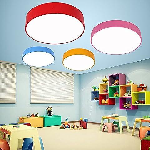 Moderne Einfache bunte Deckenleuchte/Kronleuchter/Wandleuchte Runde für Kindergarten/Kinder Zimmer/Schlafzimmer/Flur/Balkon/Bad,Blau-Durchmesser 30cm-neutrales Licht