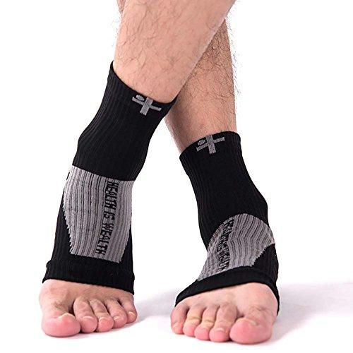 fairlove Socken mit Arch und Knöchelbandage, Best Foot Care Kompression Socke Brace Unterstützung, lindert Schwellungen und Fersensporn, Schmerzen lindern Schnell erhöht Blutzirkulation, viel als Night Splint, damen, M (Socken 11 Crew-weiße)