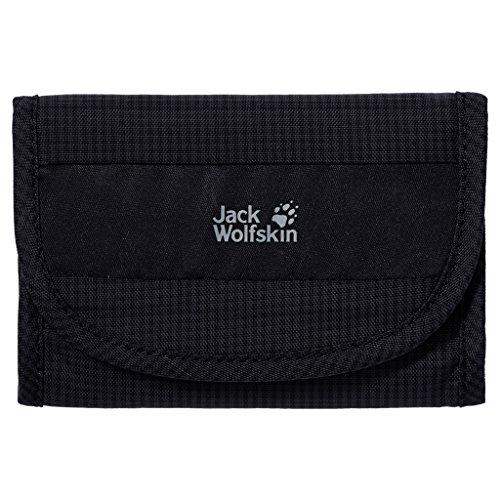 (Jack Wolfskin Geldbeutel CASHBAG Wallet RFID, Black, 14 x 10 x 2.5 cm, 0.08 Liter)