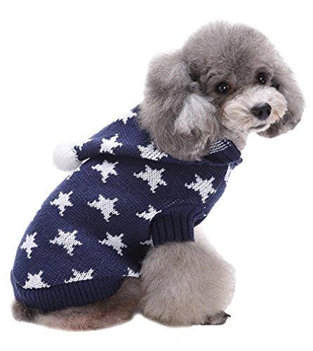AIYUE Weihnachten Hundemantel Pet Kostüm Halloween Haustiere Netten Pullover Hundepullover Mantel Jumper Coat Hundejacke Hund Hoodie Kapuzenjacke Bekleidung mit 5 Muster