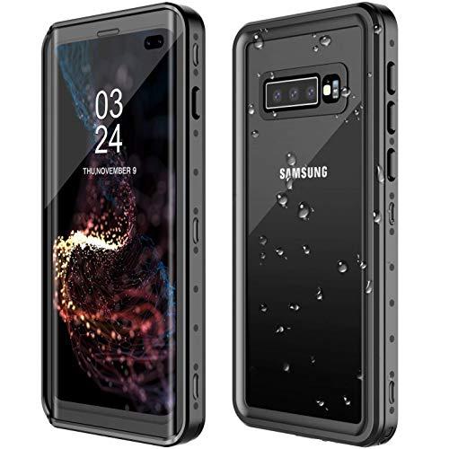 AICase Kompatibel Samsung Galaxy S10 Plus Wasserdicht Hülle, [Staubdicht] [Wasserdicht] [Stoßfest] IP68 Zertifiziert voll versiegelt wasserfeste handyhülle für Samsung S10 Plus