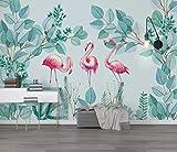 HONGYUANZHANG Personalisierter Tropischer Flamingo Tapete Des Foto-3D Künstlerische Landschafts-Fernsehhintergrund-Tapete,44Inch (H) X 76Inch (W)