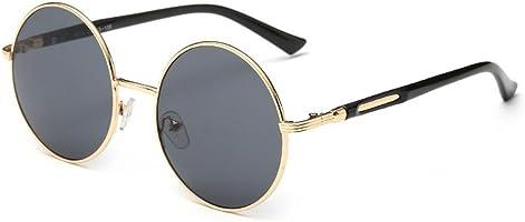 Linyuan 601 Women's Lens Round Sunglasses Retro Classic Designer Vintage UV400