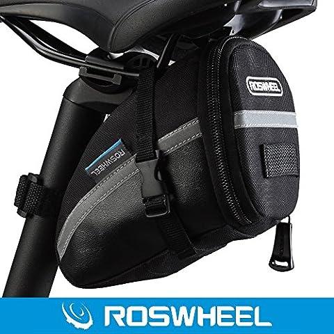 ROSWHEEL Outdoor Ciclismo Bicicletta Sella Borsa Sedile Tail Pouch con Chiusura in Velcro