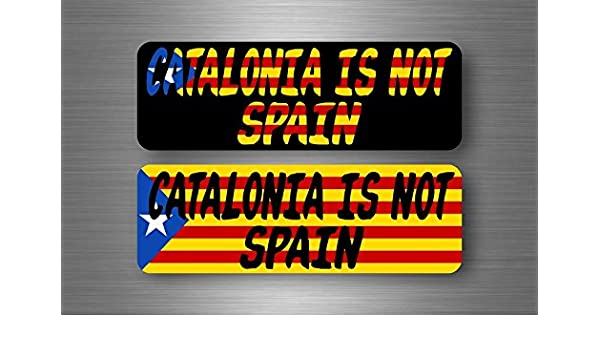 2x Sticker flag catalonia catalunya catalan estrelada free independence car