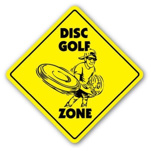 Neuheit Geschenk Disc Golf Zone Schild Scheiben Rasen Player Spiel Geschenk Play Disk Yard Dekorative Aluminium Metall Schild für Schlafzimmer, Büros