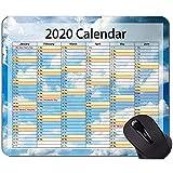 Calendario per 2020 anni Tappetino mouse personalizzato, tappetino mouse in gomma a tema cielo blu